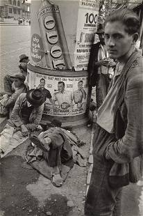 WERNER BISCHOF - Unemployed Budapest, Hungary, 1947