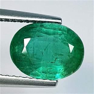 Natural Emerald Oval Cut 2.17 ct