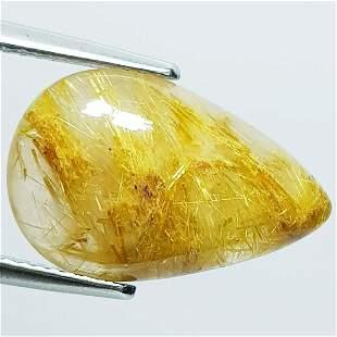 Natural Golden Rutile Quartz Pear Cut 7.17 Ct