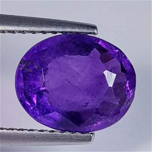 Natural Amethyst Oval Cut 3.34 ct