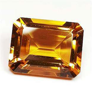Natural Citrine Emerald Cut 3.17 ct