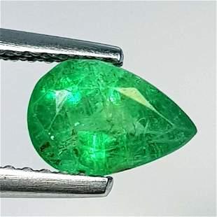 Natural Emerald Pear Cut 1.18 ct