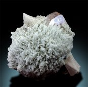 Natural Morganite Crystal with Quartz and Albite from