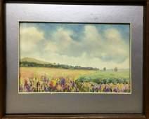 Watercolor painting Fields Tsyupka Ivan Kirillovich
