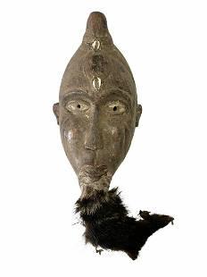 Bakongo Mask w/Animal Fur