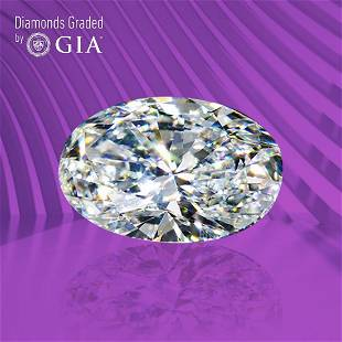 1.00 ct, Color D/VS1, Oval cut GIA Graded Diamond