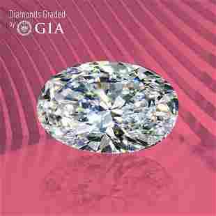 1.00 ct, Color G/VVS2, Oval cut GIA Graded Diamond