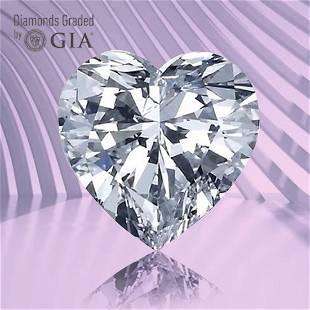 3.01 ct, Color E/VS1, Heart cut GIA Graded Diamond