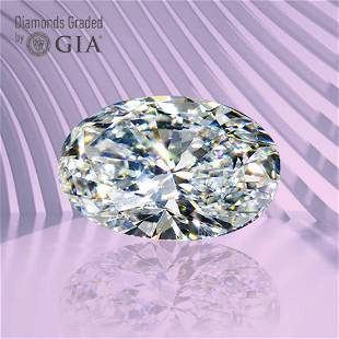 1.01 ct, Color H/VS1, Oval cut GIA Graded Diamond