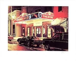 Davis Cone - Bad Axe Theater, Michigan - 1995 Serigraph