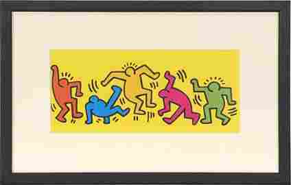 """Keith Haring - Dance II - 1998 Offset Lithograph 9"""" x"""