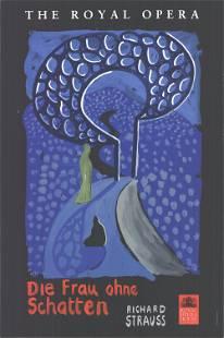 David Hockney - Die Frau Ohne Schatten - 1992 Serigraph