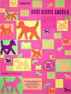 "Peter Mayer - Dogs Across America - 1991 Serigraph 28"""
