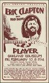 Original Eric Clapton Concert Poster Oakland Coliseum