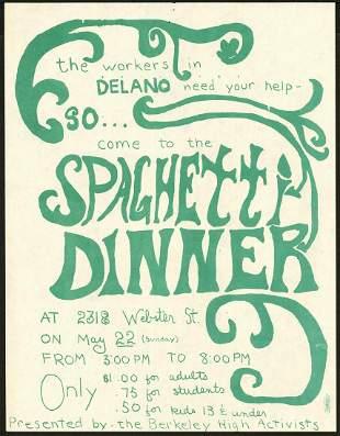 Delano Benefit Spaghetti Dinner Handbill