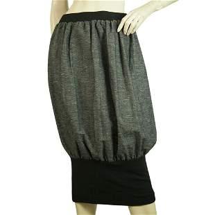 Ioanna Kourbela Gray Balloon Below Knee Length Skirt w.