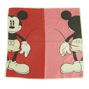 Donaldson Disney Mickey Mouse Red & Pink Silk Square