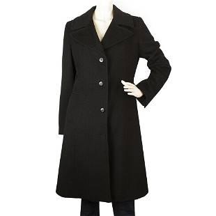 Bill Blass Black Angora Wool A Line Classic Warm Winter
