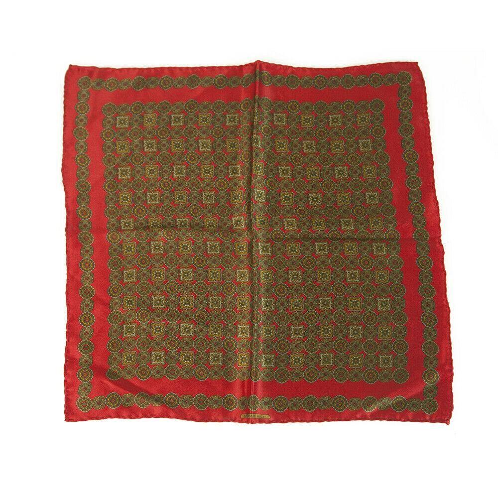 Stefano Ricci Silk Brown & Red Geometric Pattern Men's