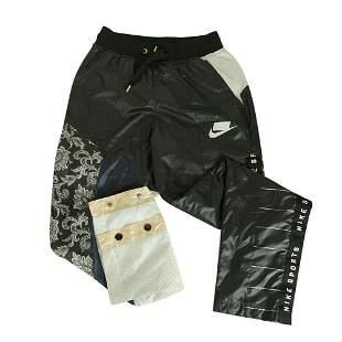 Nike Sport Black White Floral Sport Track Pants
