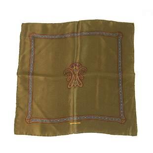 Stefano Ricci Silk Brown Paisley Pattern Men's Pocket