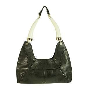 Yves Saint Laurent Rive Gauche Black Leather Mombasa