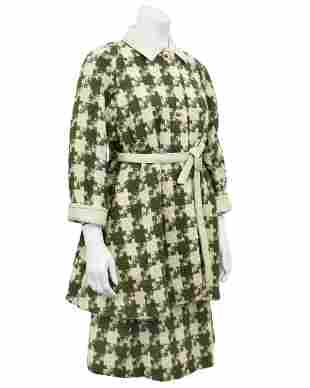 Bonnie Cashin Cream and Green Houndstooth Coat and