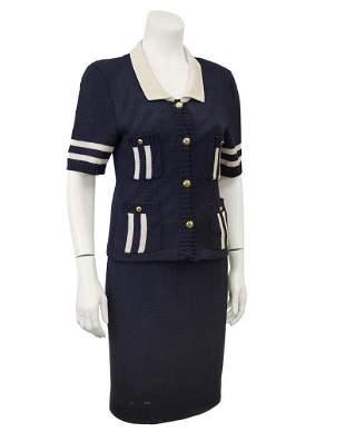 Chanel Navy Short Sleeve Ensemble