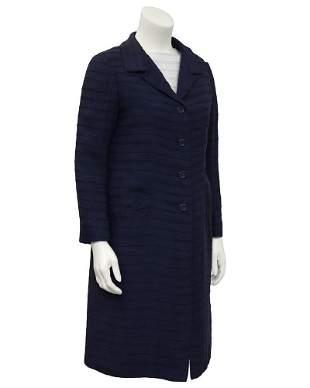 Nina Ricci Navy & White Dress and Coat Ensemble