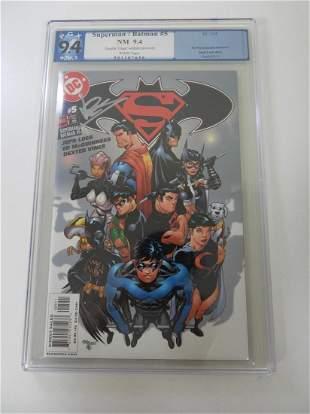 Superman/Batman #5 PGX 9.4 'Dexter Vines' written on