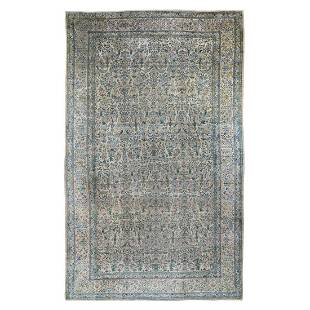 Gallery Size Antique Persian Kerman Even Wear