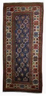 Handmade antique Caucasian Gendje rug 3.2' x 8' ( 97cm
