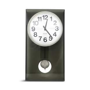Vintage Smoked Lucite Pendulum Wall Clock by Bulova