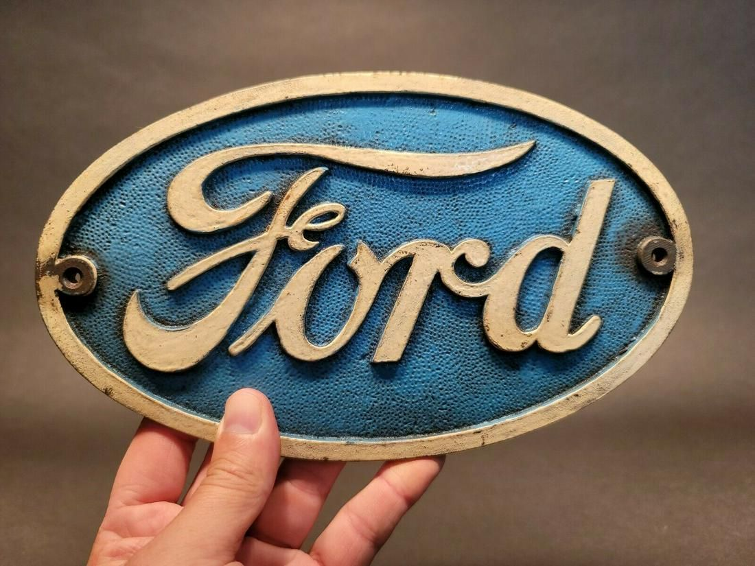 Cast Iron Ford Car Sign Plaque