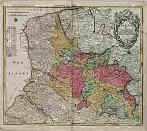 1730 Seutter Map of Northwest France -- Artesia cum
