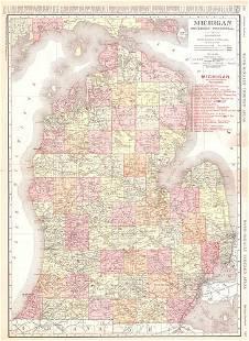 Rand-McNally Indexed Atlas. Michigan Southern