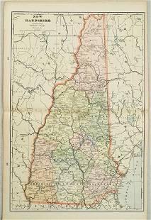 189 c. Cram Map of New Hampshire [verso] Adirondacks