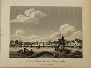 1826 View of Rouen -- A View of Rouen with the Old
