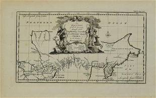 1744 Bowen Map of Siberia -- An Exact Chart of All the