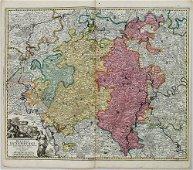 1720 c. Homann Map of Luxembourg -- Ducatus Luxemburgi