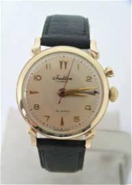 Vintage 10k GF TRADITION CRICKET ALARM Watch 1950s