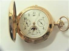 Antique 14K Minute Repeater MOON PHASE Chronograph