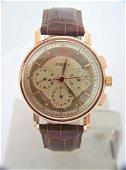 Vintage Mens 18k Rose LEMANIA Chronograph Watch Cal