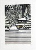 RAY MORIMURA (B. - 1948) - GINKAKUJI IN SNOW