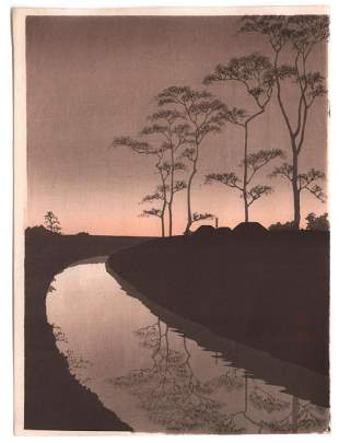 Artist: Koho. Subject: Night Series: Canal and full