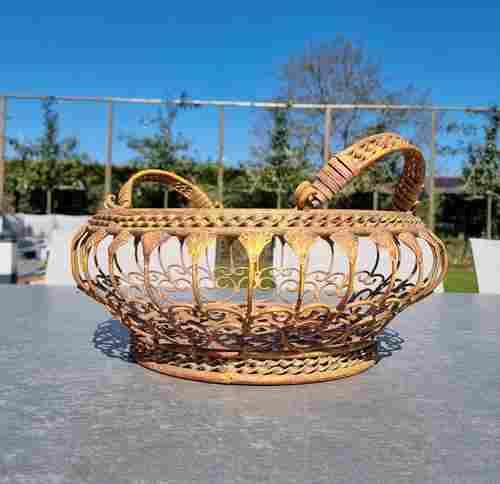 Wrought iron flower basket - Garden flower baskets -