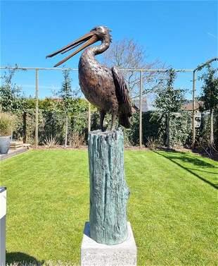 Life-size Pelican - Bronze fountain - model 2