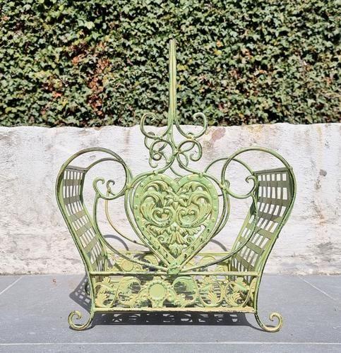 Couple iron baskets - Green garden baskets - cottage