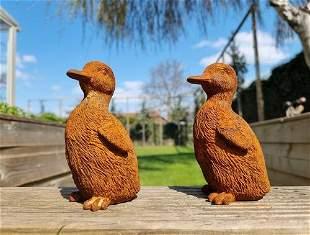 Cast iron ducklings - Courtyard ornaments - Garden