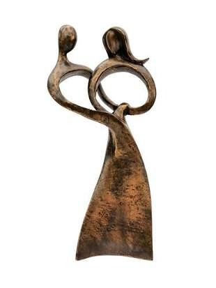Bronze sculpture of an embracing couple - Bronze gift